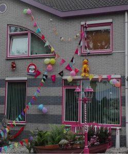 gevelversiering feest SpouwVast zonder boren spouwanker muuranker ladder steiger veilig werken