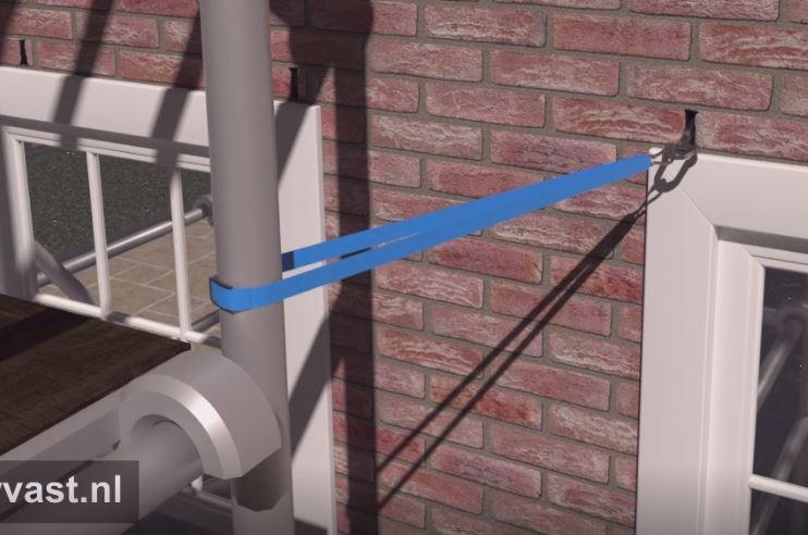 steiger spanband gevel veiliger werken op hoogte gevelschade spouwanker muuranker steigerhaak