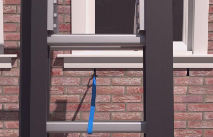 ladder steiger veiliger werken op hoogte gevelschade spouwanker muuranker gevelschade