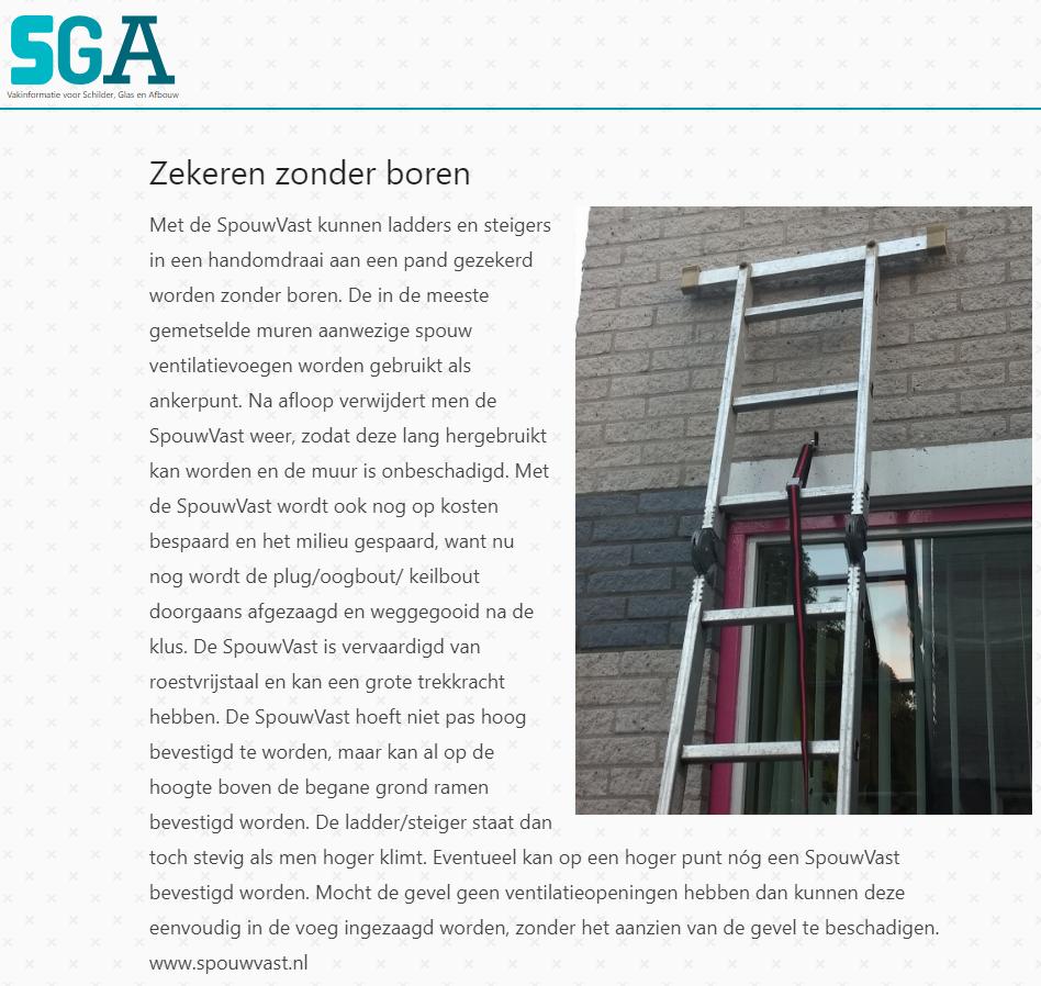 ladder steiger zekeren veilig werken glazenwasser schilder gezonder werken spouwanker muuranker Step