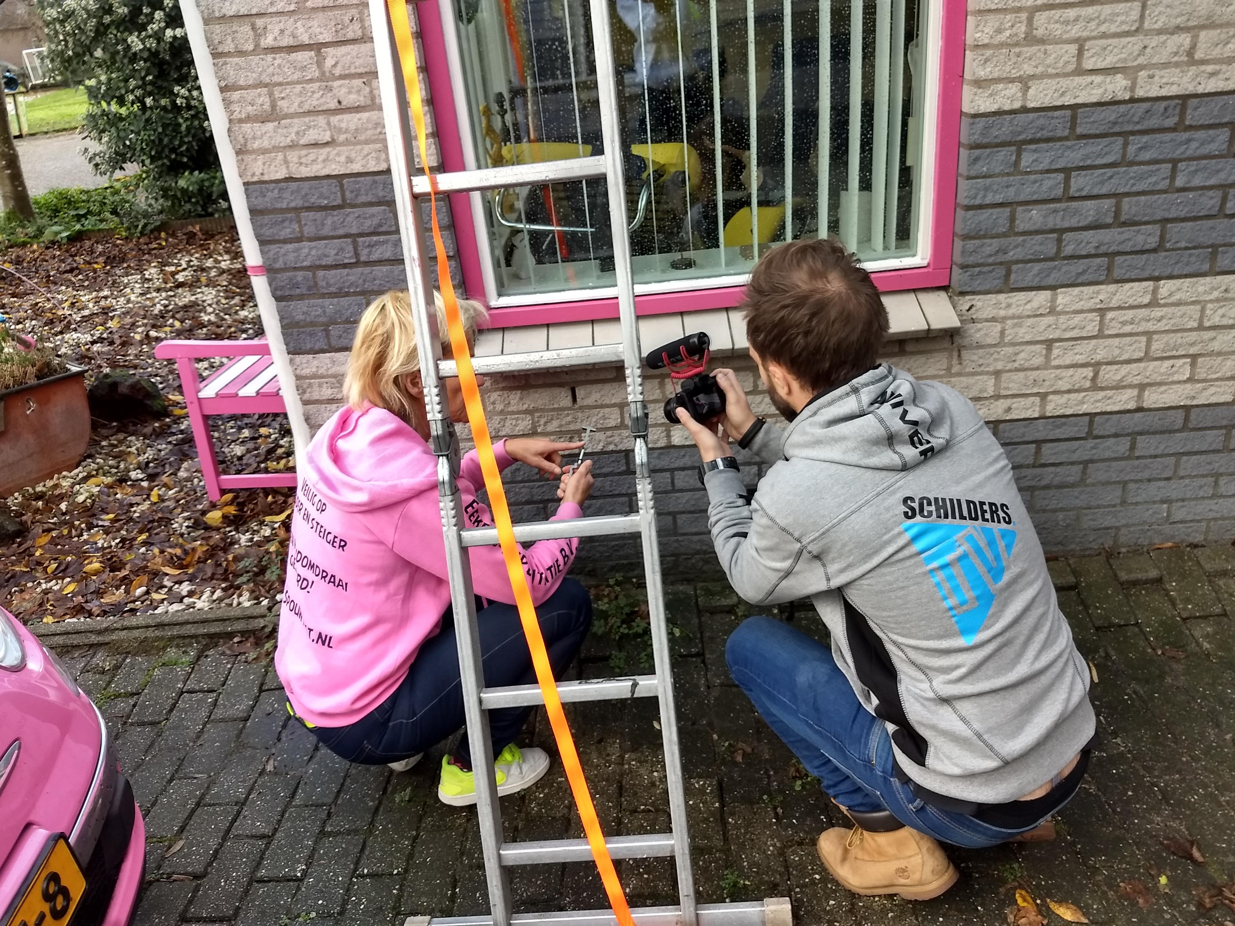 ladder steiger zekeren veilig werken glazenwasser schilder muuranker spouwanker Step gezonder werken