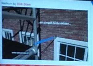 ladder steiger zekeren veilig werken gevelschade gezonder werken spouwanker muuranker