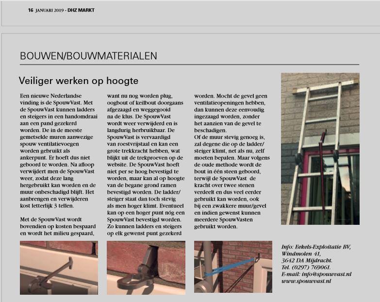 ladder steiger zekeren veilig werken renoveren gevelschade spouwanker muuranker