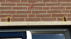 Gevelschade SpouwVast ladder steiger veiliger werken Step spouwanker muuranker