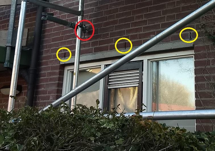 Steiger gevelschade boren muuranker spouwanker steigeranker veiliger werken